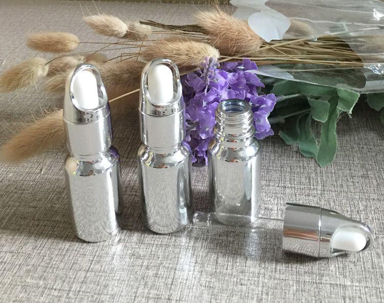 hot sale unique mini 10ml glass dropper bottles, 10ml dropper bottle wholesale ,silver 10ml samll glass dropper bottle buy