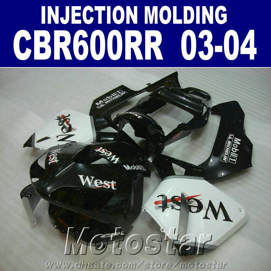Free Customize for HONDA CBR 600RR fairing 2003 2004 100% fit Injection 03 04 CBR600RR ABS plastic fairings kit