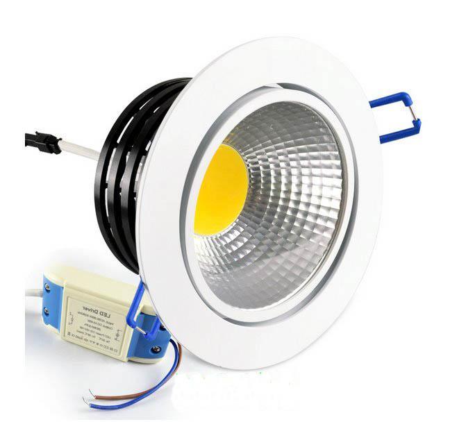 MOQ20 COB Recessed LED Ceiling Downlight Bulb 3W 5W 7W 9W 12W 15W Downlights AC 85-265V Indoor Home Supermarket Decorative Lighting WW CW