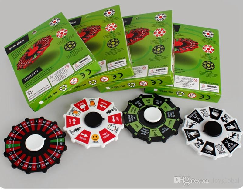 New Fortune Roulette Rad Zappeln Spinner Lucky Rad Spinner Spinning Turntisch Hand Spinner Spin Dice Stress Relief Spielzeug DHL