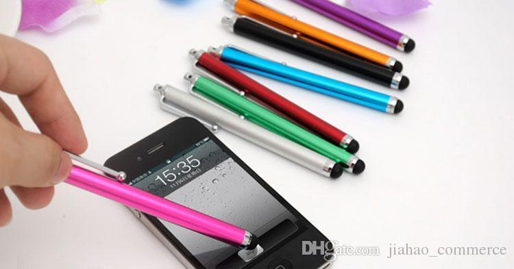 Ekran pojemnościowy Metalowy Stylus Dotykać Pióro z klipsem do smartfona, telefonu komórkowego, telefon z Androidem dotykowym 1000 sztuk / partia