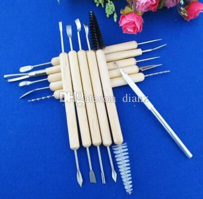 New Arrive /Wood Handle Wax Pottery Clay Sculpture Carving Modeling Tool DIY Craft