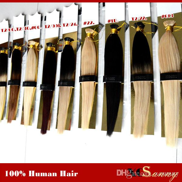 Xcsunny I Tip Fusion Hair Extensions 18 20 Natural Hair Extensions