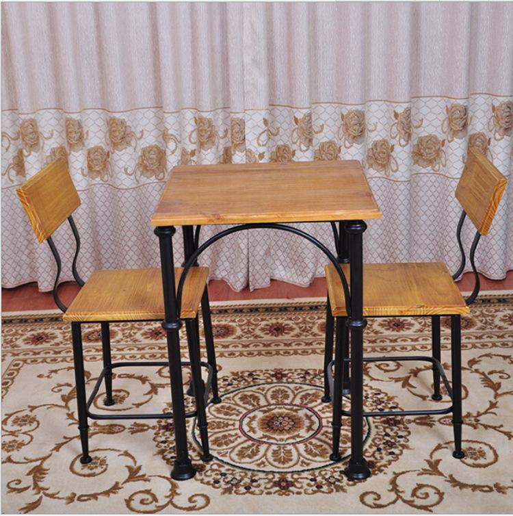 Small Size Dining Table Cafe Table Coffee Table Restaurant: 2019 American Pastoral Wrought Iron Tables And Chairs Cafe