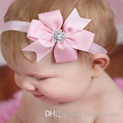 Baby Bow Hin Grestone Оголовье Волни, Bowknot повязки повязки Младенческие Волосы Принадлежности для волос Головной убор Цветок 20 шт. / Лот