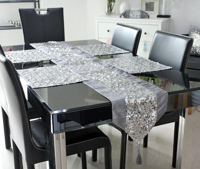 See larger image - 2013 New Design Sequin Europe Elegant Table Runner Tablemat Five