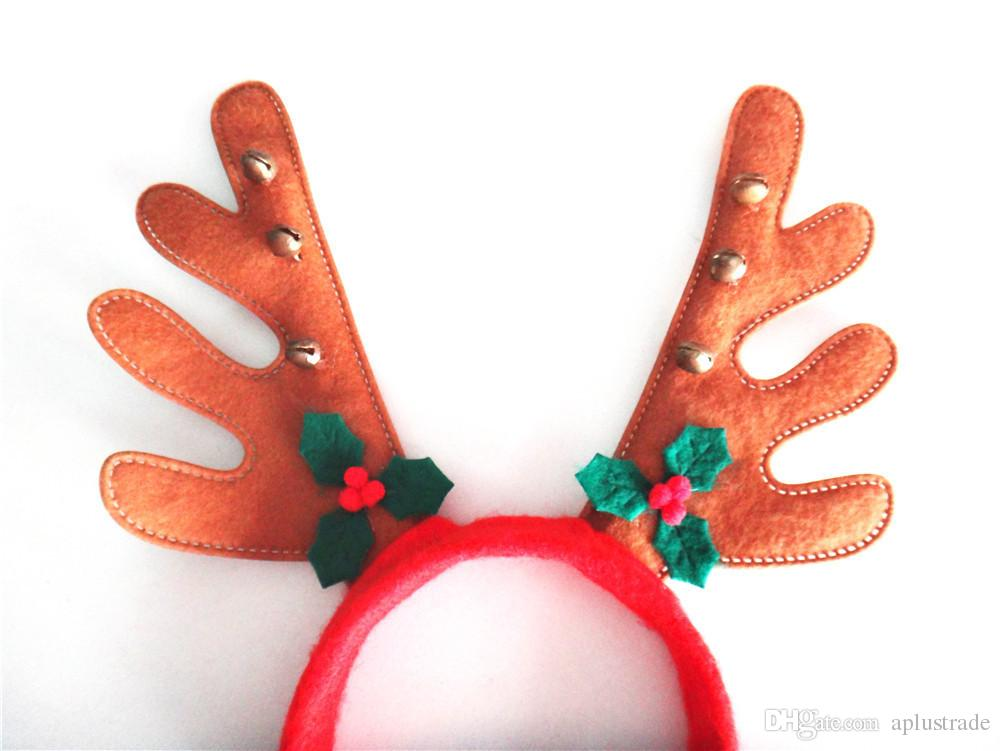 New Christmas Reindeer Headdress Party Ornaments Red Reindeer ...
