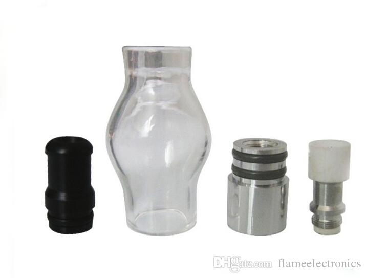 Bulb Atomizer Wax Glass dome glass globe attachment Glass Pyrex Glass for eGo t Battery E Cigarettes Dry Herb Wax Vaporizer