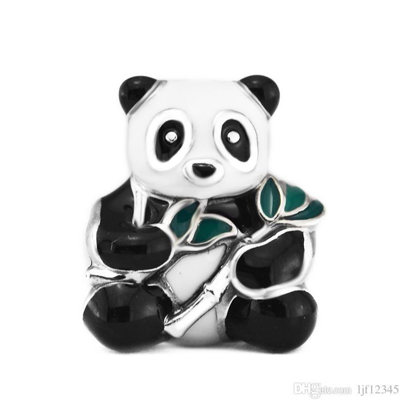 Pandulaso Süße Panda Charm Mixed-Emaille Perlen Für Schmuck Machen Pandora Armbänder Halskette Frau DIY schmuck machen