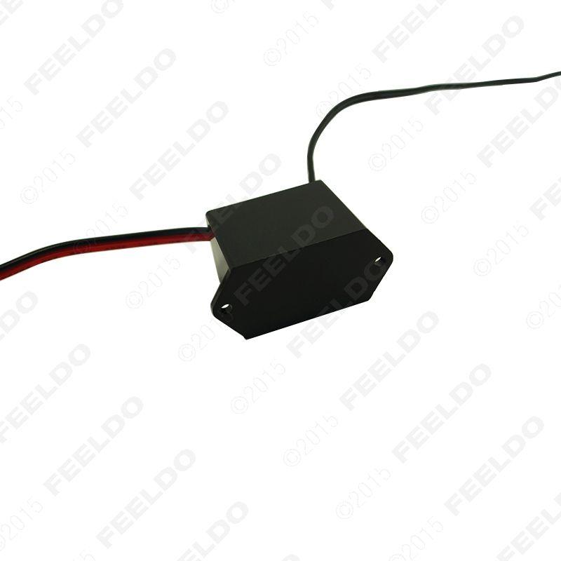 FEELDO 12V DC Coche Decoración EL Fibra Neón Resplandor Iluminación Cuerda Tira Inversor del conductor de energía con encendedor de cigarros / cigarro # 5253