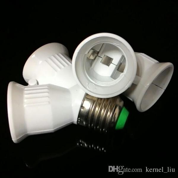 E27 para 2xE27 LED Light Lamp Lâmpada Adapter Converter Splitter Holder