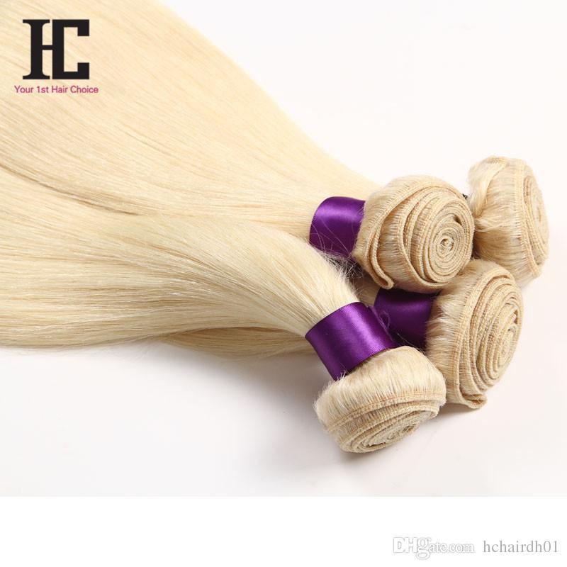 العسل شقراء البرازيلي بيرو الماليزية الشعر الهندي مستقيم 4 قطع 613 شقراء عذراء الشعر مستقيم شقراء الشعر البشري ملحقات