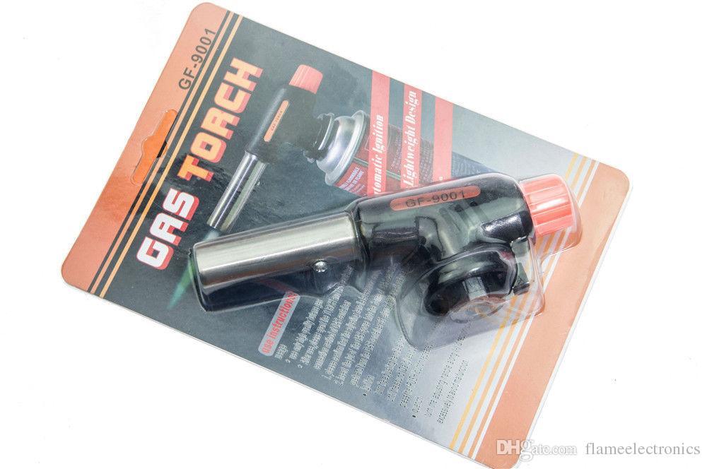 Gas Torch Auto Ignition Flame Jet Gun Gas Butane Blow Torch Burner Welding Solder Iron Soldering Lighter Flame Gun Lighter Gas Butane