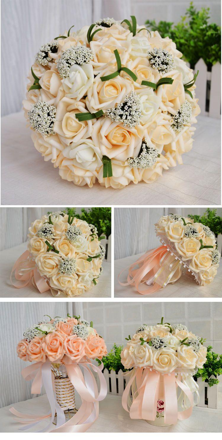 Bride Holding Flower 30 Wedding Decoration Bouquet Arttifical