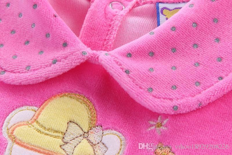2018 baby dress party baby dress clothes Children's Dresses kids clothing winter christmas infant velour skirt set newborn cute child dress