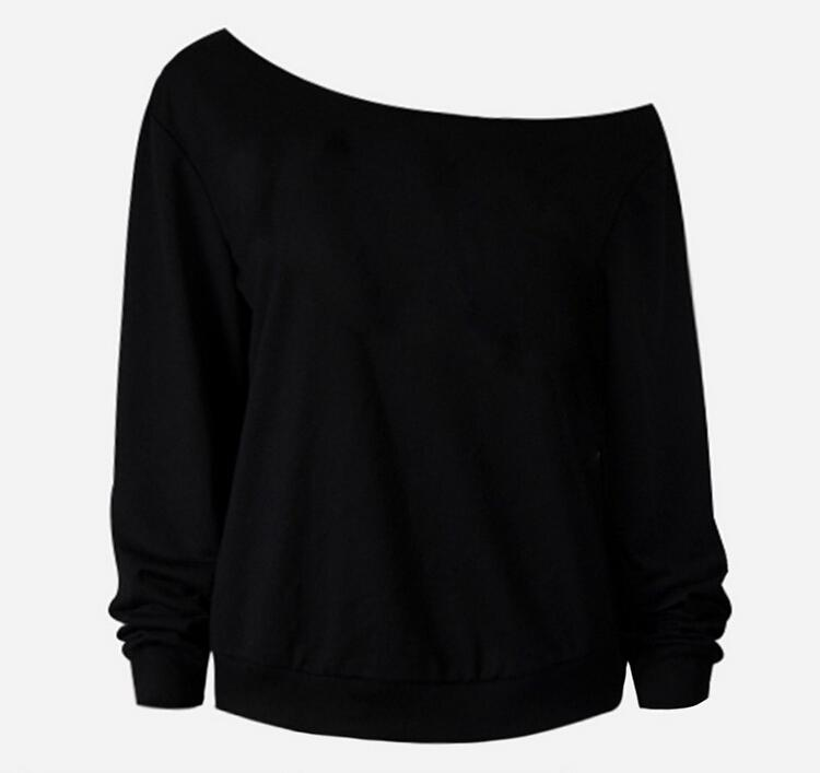 New Arrival Fashion Spring Clothes for Women2016 Round Neck Long Sleeve off Shoulder Big Lips Pattern Oblique Sexy Blouses Tops Women Tshirt