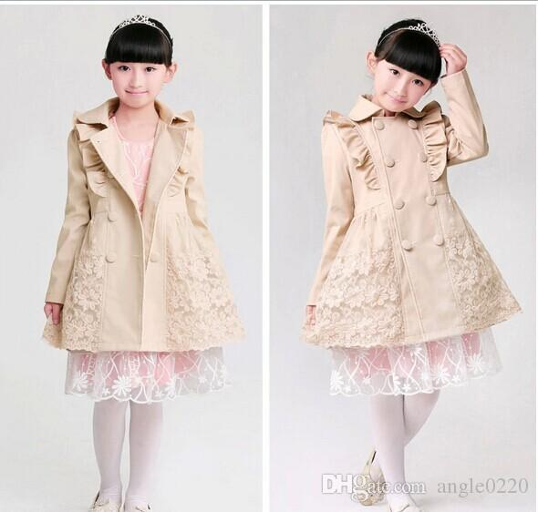 Stylish Girl'S Jacket Trench Coat Dress, Kids Children'S Clothes ...