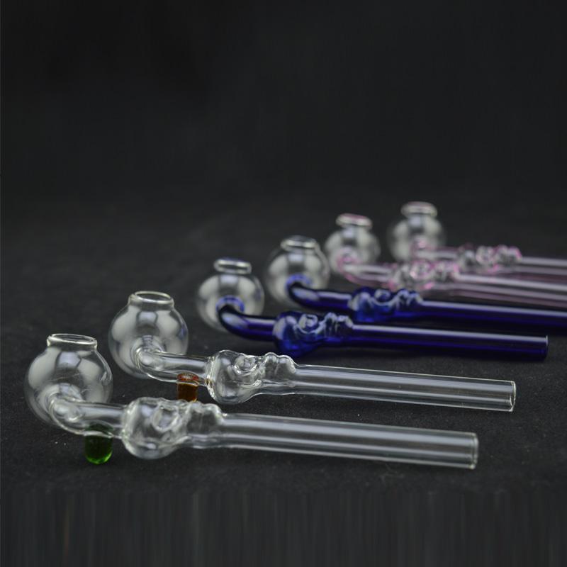 Holland Style Pyrex verre courbé Shisha narguilé Pipe huile brûleur tuyau Balancer coloré fumant verre 6