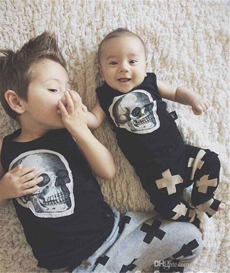 new Girls Boy Toddler Child Fashion Boys Pants trousers leggings Cross Star hip hop Children Harem Pants For Trousers Baby Clothes 56