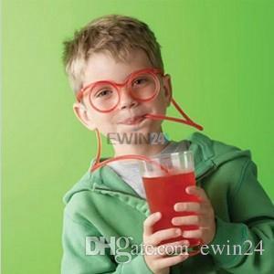 Питьевой очки соломы весело новинка мягкая трубка гибкая уникальный ребенок взрослых смешно Бесплатная доставка 1000 шт. соломинки