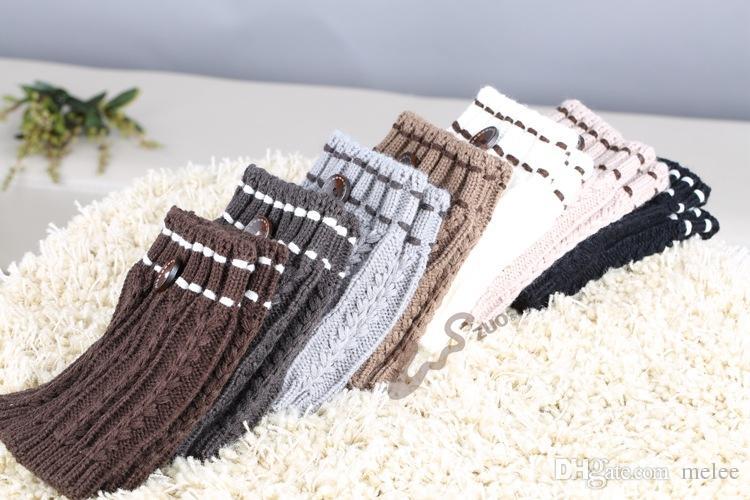 Free ups navio mulheres Crochet malha warmers perna hotsale Boot Cuff botão para baixo Knit Ballet handmade Polainas Meias de Natal Meias de inicialização