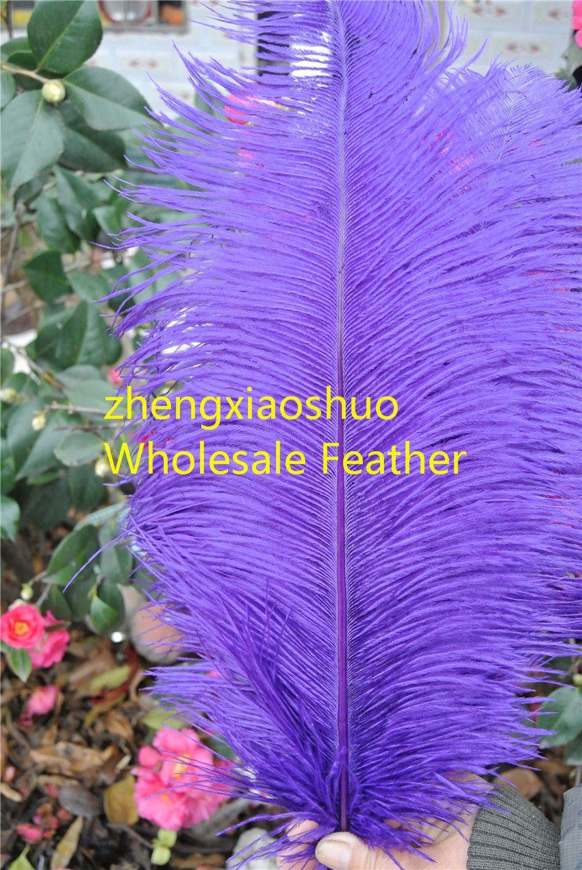 Hurtownie 100 sztuk / partia 14-16inch 35-40 cm Purpurowe Plume Plume Feather do ślubu Ślubne Dekoracje Kostiumy Pióro