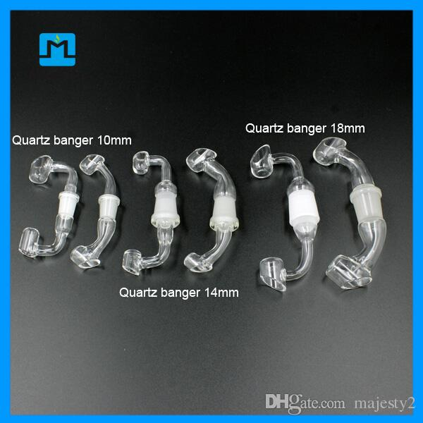 Quartz Banger For Glass Oil Rigs 10mm 14mm 18mm Female Male 45 or 90 Degrees Quartz Nail For Water Pipe