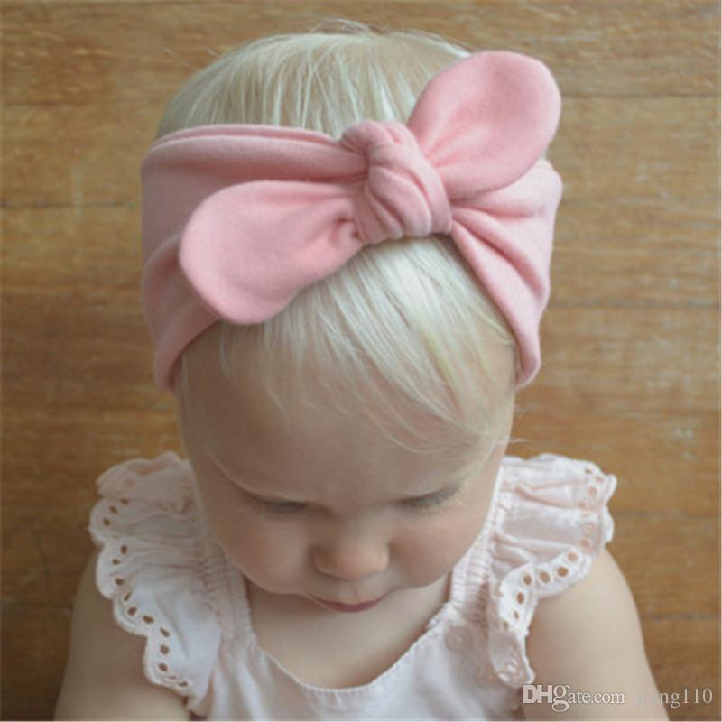 4b3d4e60415f Newborn Baby Headbands Bunny Ear Elastic Headband Children Hair Accessories  Kids Cute Hairbands For Girls Cotton Bow Headwear Headdress Children Hair  ...