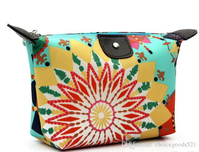 New arrive hot sell Cosmetic Bag Women's Lady Travel Makeup Bags Pouch Clutch Handbag candy zero wallet nylon zipper purses