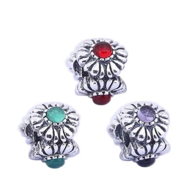 73ca4e1bd ... netherlands wholesale sterling silver charms 925 ale three flower  rhinestone european charms for pandora bracelets diy