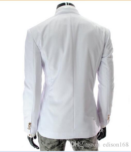 Gorąca sprzedaż Dwa Przyciski Niemetryczne męskie Kurtki Casual Slim Fit Bawełniany Płaszcz Garnitur Mężczyzna Outwear X309