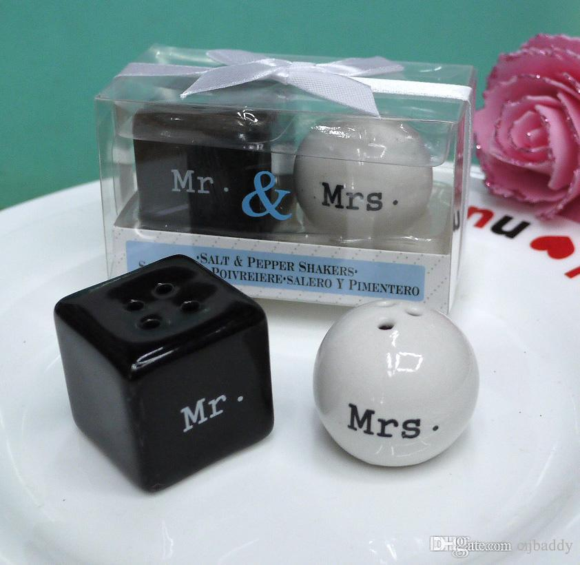 Wedding Giveaway Gift Items Mr Mrs Ceramic Salt And Pepper