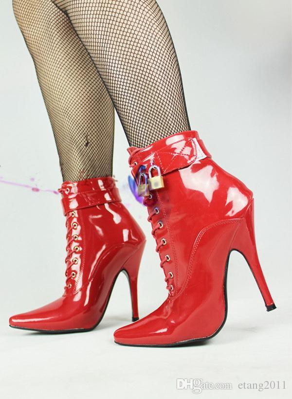 جديد الجنس لعب للجنسين مثير bdsm sm cd لعبة اللعب 12 سنتيمتر كعب صنم الكاحل قفل عالية عبودية أحذية أحذية الكعب