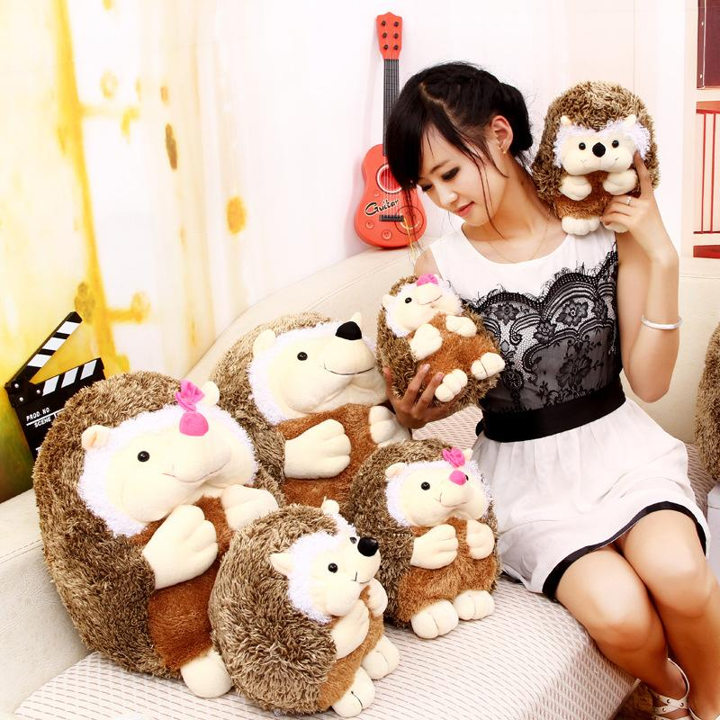 2015 Top Selling 30cm Super Cute Hedgehog Valentines Day Stuffed Animals  Adorable Hedgehog Toys For Baby