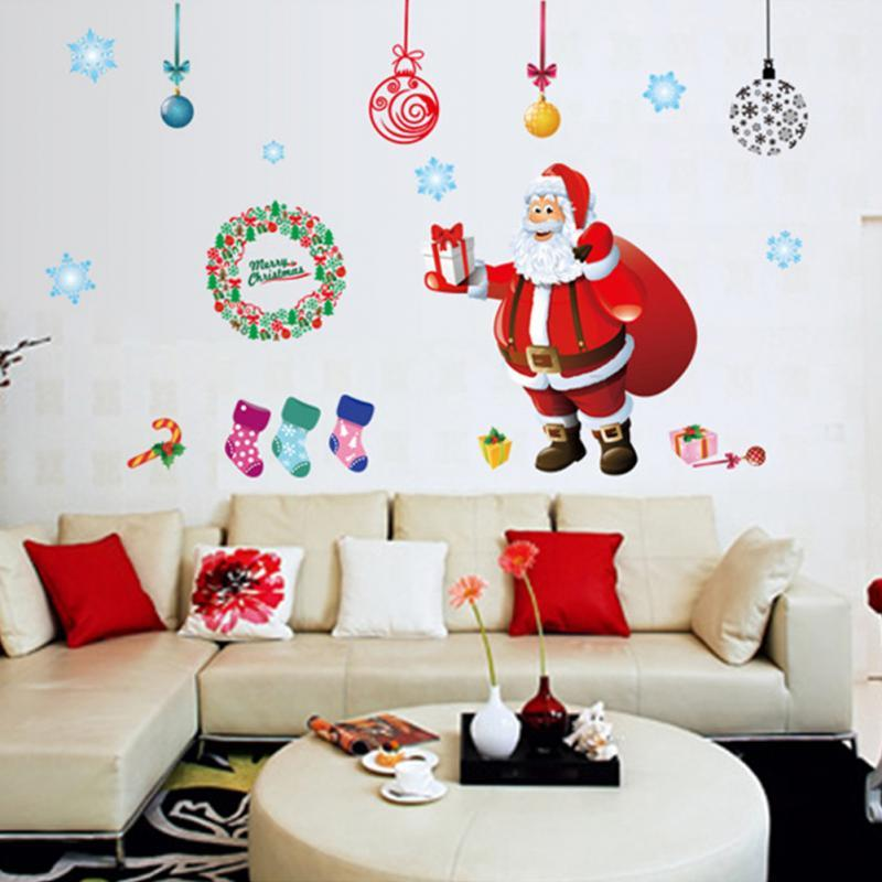 Newest Merry Christmas Gift Xmas Tree Santa Claus Design Decor