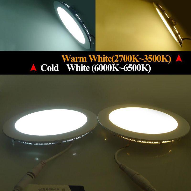 Led 패널 조명 3W 9W 15W led 조명 화이트 / 따뜻한 LED SMD 2835 홈 조명 AV85-265V 슈퍼 얇은 둥근 천장 통