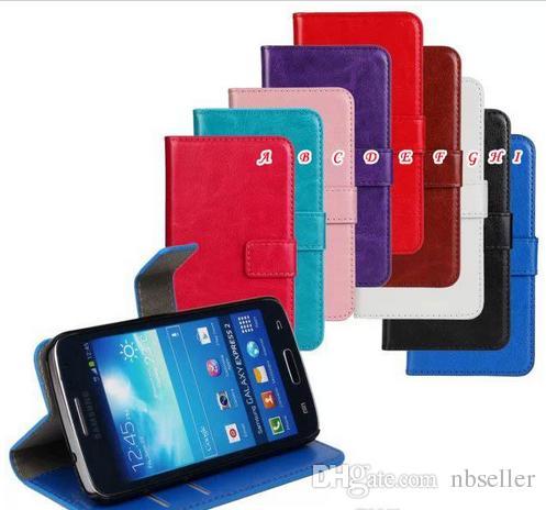 Custodia in pelle Samsung Galaxy Express 2 G3815 Crazy horse Mad Retro Wallet Custodia pelle Custodia porta carte di credito