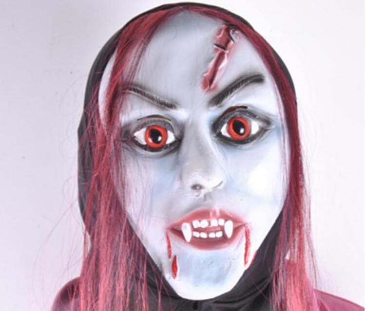 латексная маска имитация лица девушки