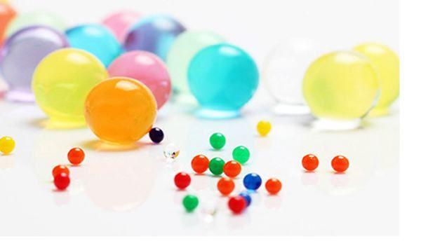 Fedex DHL EL ccsme Planta de agua mágica Flor de gelatina Suelo de barro Suelo de agua Perlas de gel Granos de bolas Bolas de barro de cristal 2.5 mm 3 g 1000 bolsas / lote