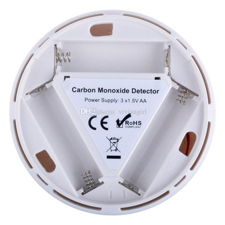 CO Carbon Monoxide Poisoning Smoke Gas Sensor Warning Alarm Detector Tester LCD Security Sensor Home Necessory with retail box DHL Free