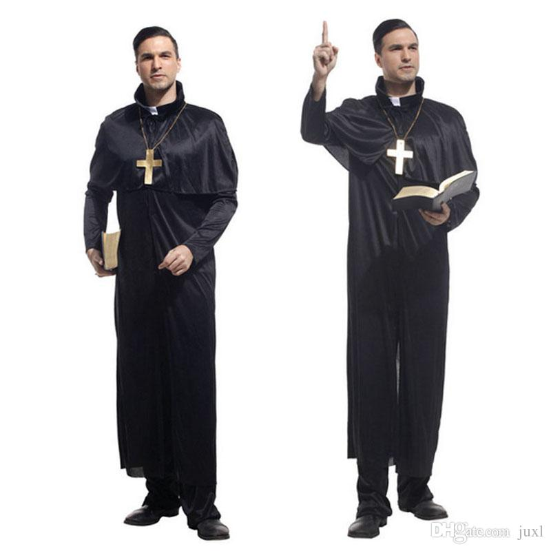 Party Masquerade Halloween Drama Clergyman Priest Costume Cosplay Fancy Dress Adult Man Cosplay Carnival Costumes New Costume Party Costumes Costumes For A ...  sc 1 st  DHgate.com & Party Masquerade Halloween Drama Clergyman Priest Costume Cosplay ...