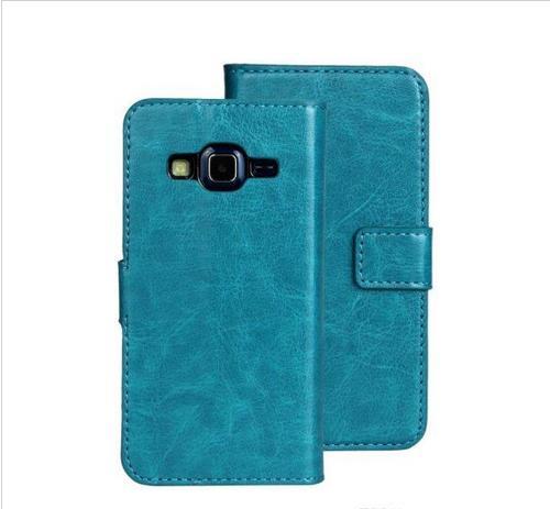 Pour Samsung Galaxy Express 2 G3815 Cheval Fou Mad Retro Portefeuille Etuis en cuir housse pour la peau Titulaire de la carte de crédit