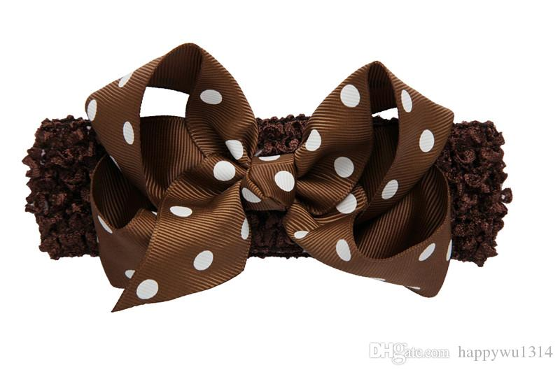 Infant Bow Headbands Baby Girl Headband Childrens Hair Accessories Kid Boutique Polka Dot Bow knot Flower Hairbands Babies Photography Props