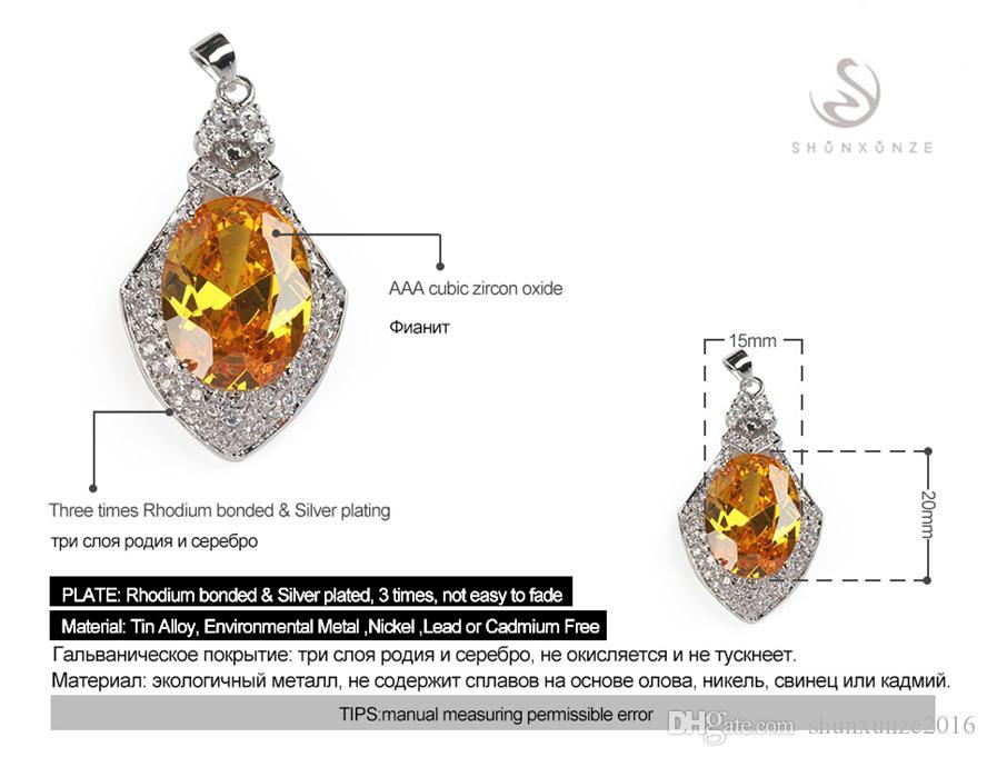 Charme edel großzügig Die neue Auflistung MN655 Empfehlen Gelbe Zirkonia Bestseller Kupfer Rhodium plattiert Favorit Anhänger Promotion