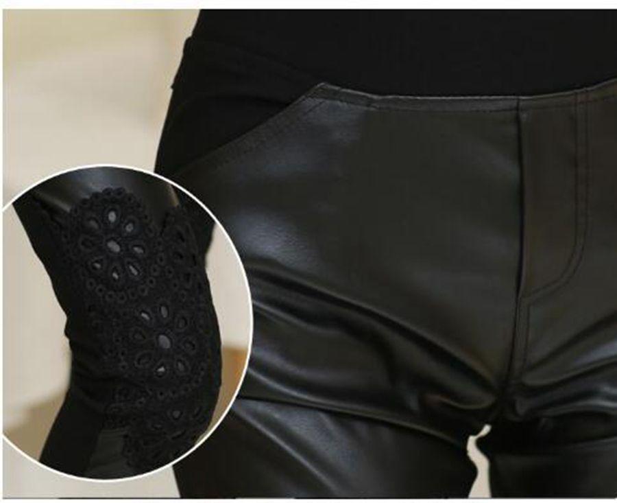L'edizione di Han contrappone le donne autentiche di modo nuovo inverno caldo stretto mostra i pantaloni di cuoio d'impionbatura d'ispessimento dei capelli sottili. S - 3xl