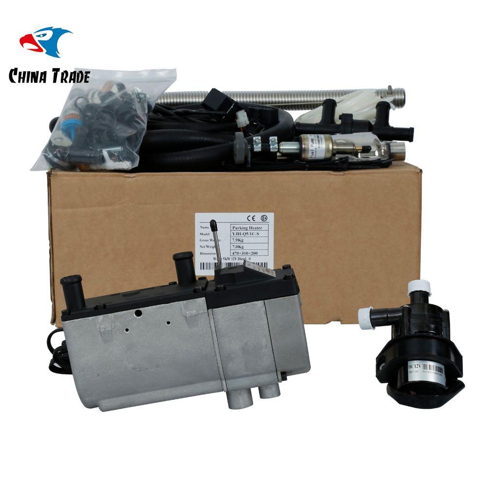 2019 digital control auto liquid parking heater 5kw diesel 12v
