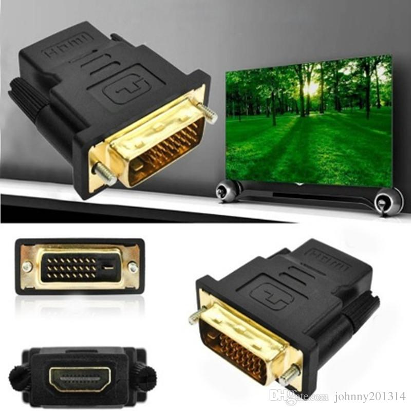Elettronica di consumo Accessori computer TV DVI-D Maschio 24 + 1 pin a HDMI Femmina 19 pin Adattatore display HD HD Monitor