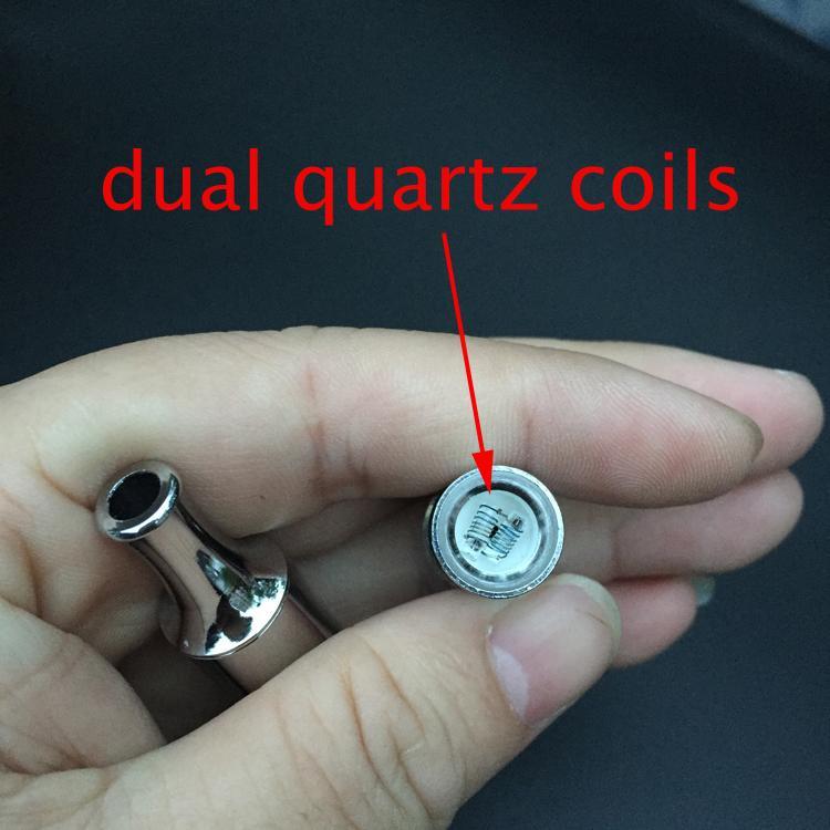 Dupla de quartzo bobina vaporizador dupla bobina de quartzo frigideira cera atomizadores Dupla bobina de cera frigideira atomizador enorme vapor cera vapor atomizadores -0