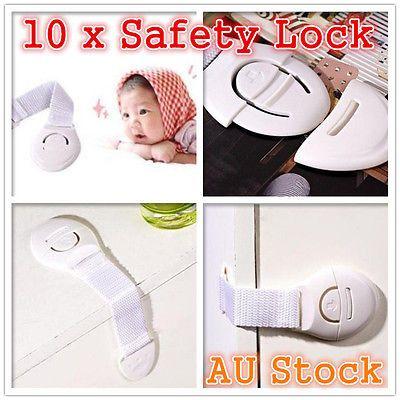 Verrouillage de sécurité 10 x Adhésif Enfant Enfants Bébé Mignon Verrouillage de sécurité pour armoire à tiroirs