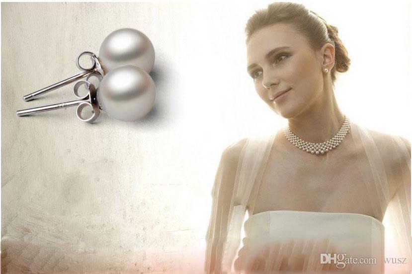 Hohe qualität 925 sterling silber schmuck Perle Ohrringe Südsee shell perle ohrringe weiblichen edlen schmuck